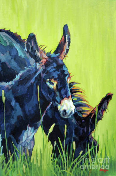 Donkey Painting - Mamma's Boy by Patricia A Griffin