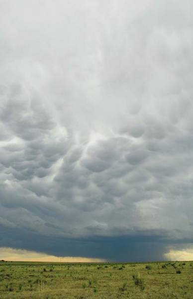 Anvil Photograph - Mammatus Clouds by Jim Reed Photography/science Photo Library