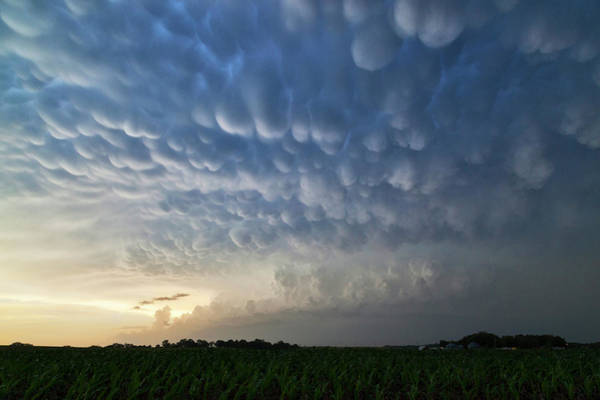 Nebraska Landscape Photograph - Mammatus Clouds by Roger Hill