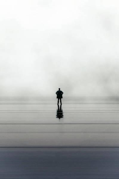 Rain Wall Art - Photograph - Man Alone by Joana Kruse