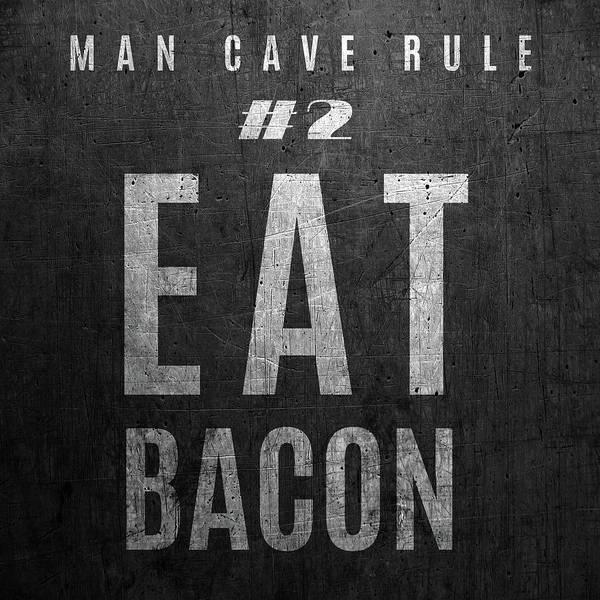 Wall Art - Digital Art - Man Cave Rules I by Sd Graphics Studio