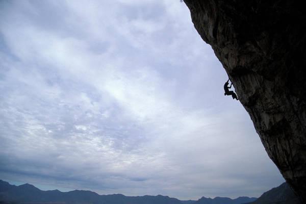 Difficult Photograph - Man Climbing A Big Wall In El Potrero by Corey Rich