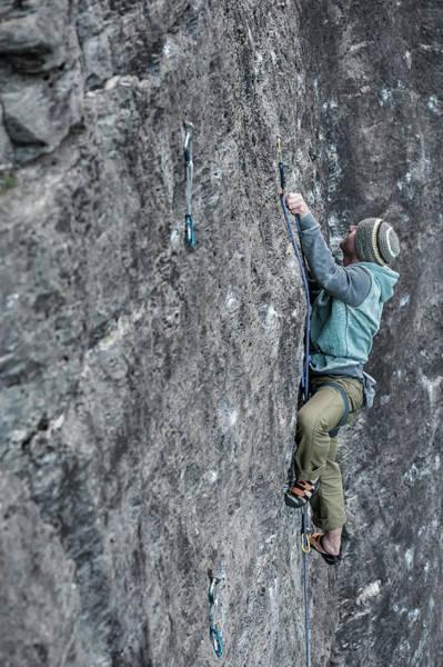 Wall Art - Photograph - Man Climbing On The Granite Of Premia by Paolo Sartori