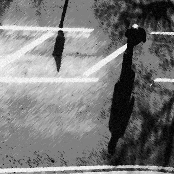 Monochrome Photograph - Man Crossing by Jason Michael Roust