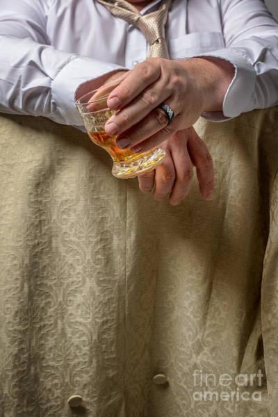 Drunk Photograph - Man Drinking Spirits by Amanda Elwell
