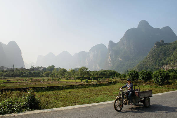 Driving Photograph - Man Driving Motorcycle With Cart by Cultura Rm Exclusive/matt Dutile