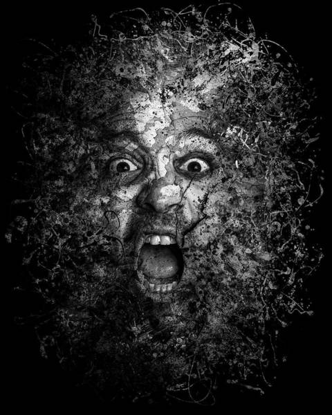 Dread Photograph - Man Eyes Face Horror Portrait Black And White  by Andy Gimino