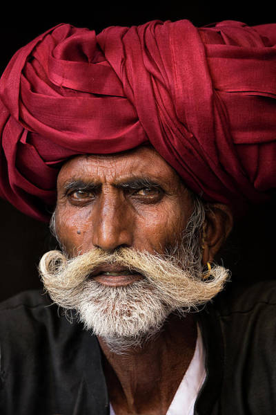 Asian Photograph - Man From Rajasthan by Haitham Al Farsi