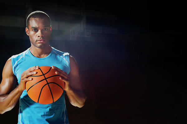 Eye Ball Photograph - Man Holding Basketball by Compassionate Eye Foundation/chris Newton
