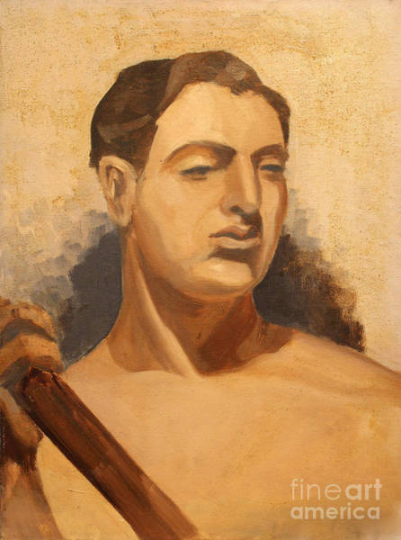 Painting - Man Holding Staff  1937 by Art By Tolpo Collection