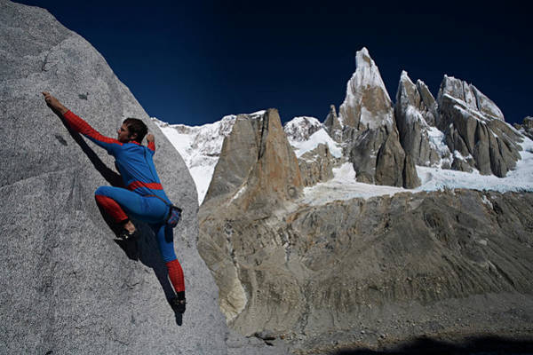 Spider Rock Photograph - Man In Spiderman Suit Climbs In Front by Aaron Black