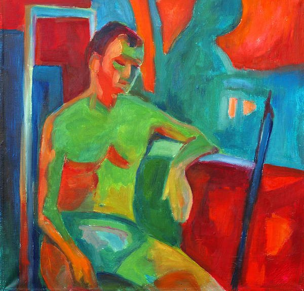 Man In Still Life Art Print by Magdalena Mirowicz