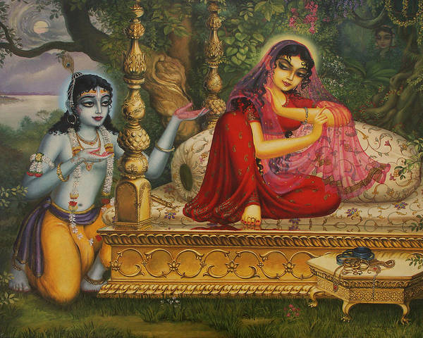 Wall Art - Painting - Man Lila by Vrindavan Das