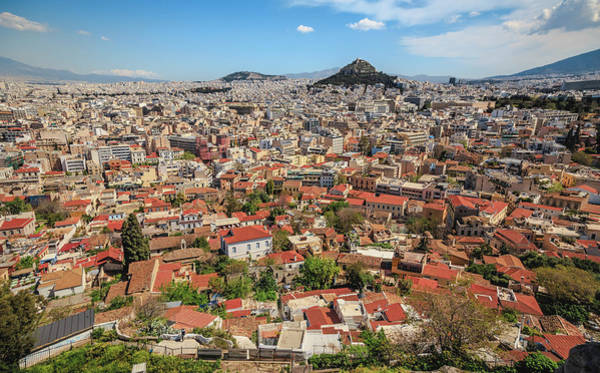 Looking Down Photograph - Man Looks Out North To Athens by Ed Norton