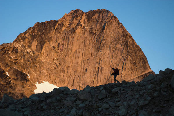Bugaboo Photograph - Man Mountaineering In The Bugaboo by Kennan Harvey