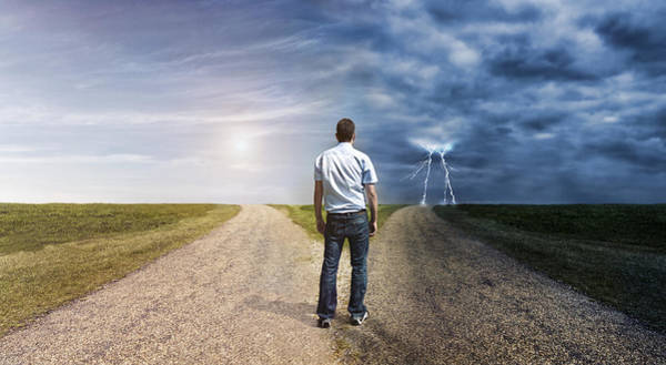 Man Must Decide His Way Forward To Success Or Failure Art Print by Mikkelwilliam