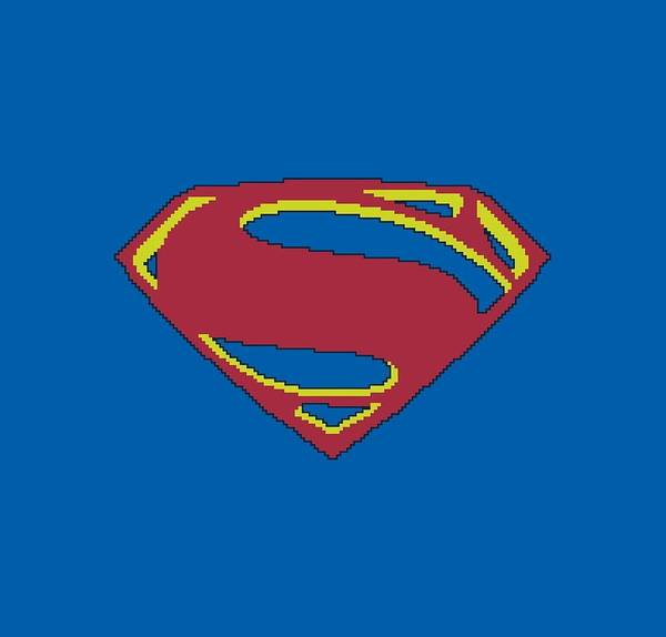 Man Of Steel Wall Art - Digital Art - Man Of Steel - 8 Bit Shield by Brand A