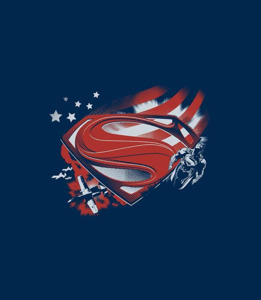 Man Of Steel Wall Art - Digital Art - Man Of Steel - Americas Hero by Brand A