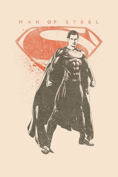 Man Of Steel Wall Art - Digital Art - Man Of Steel - Faded Superman by Brand A