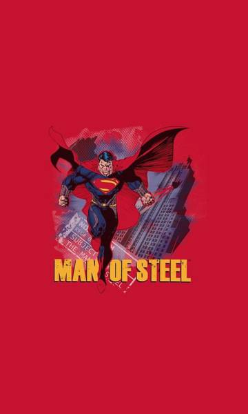 Man Of Steel Wall Art - Digital Art - Man Of Steel - Fly By by Brand A