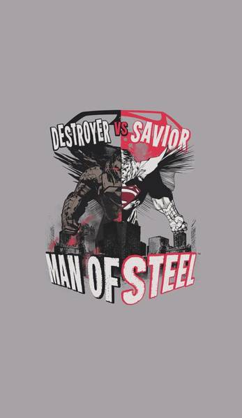 Man Of Steel Wall Art - Digital Art - Man Of Steel - Good Vs Evil by Brand A
