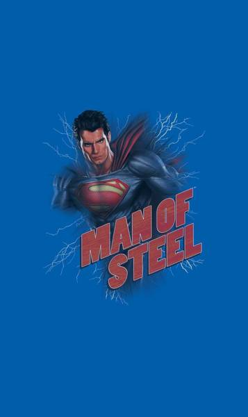 Man Of Steel Wall Art - Digital Art - Man Of Steel - Lightning Power by Brand A