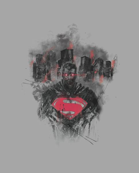 Man Of Steel Wall Art - Digital Art - Man Of Steel - Scorched Skyline by Brand A