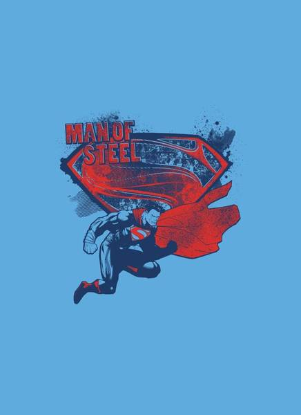 Man Of Steel Wall Art - Digital Art - Man Of Steel - Sheild Splat by Brand A