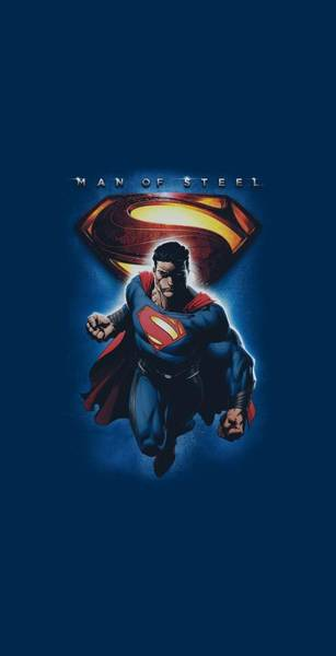 Man Of Steel Wall Art - Digital Art - Man Of Steel - Superman And Symbol by Brand A