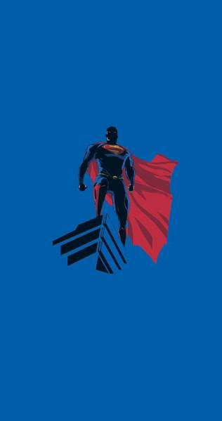 Man Of Steel Wall Art - Digital Art - Man Of Steel - The Watcher by Brand A