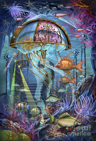 Reef Digital Art - Man Of War by MGL Meiklejohn Graphics Licensing