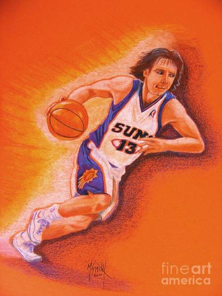 Nba Drawing - Man On Fire by Marilyn Smith