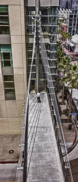 Digital Art - Man On Sky Bridge by Photographic Art by Russel Ray Photos
