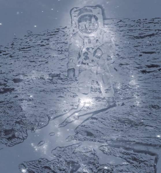 Wall Art - Digital Art - Man On The Moon by Dan Sproul