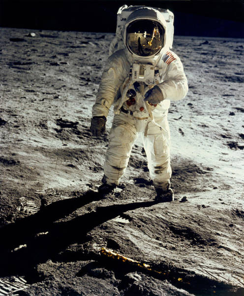 Wall Art - Photograph - Man On The Moon by Neil Armstrong/Underwood Archive