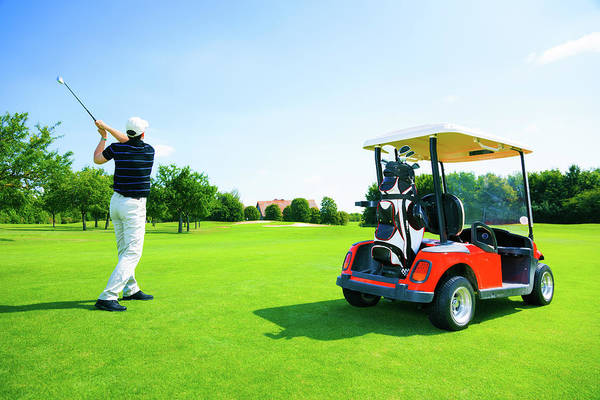 Golf Photograph - Man Playing Golf by Nullplus