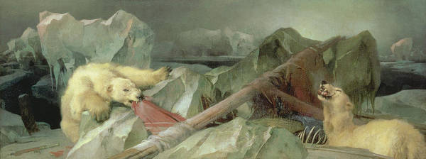 Crt Painting - Man Proposes, God Disposes, 1864 by Sir Edwin Landseer