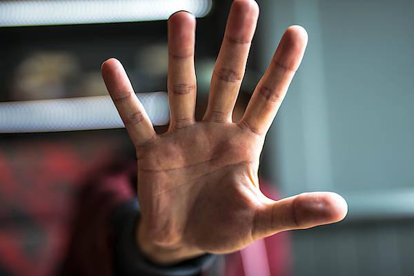 Man Showing Stop Gesture Art Print by Erik Witsoe / EyeEm