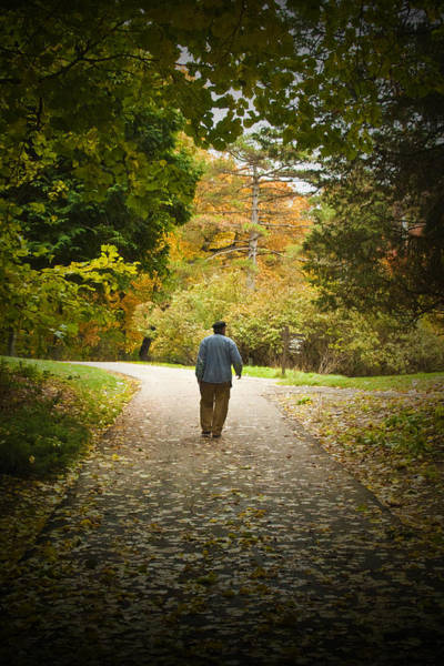Photograph - Man Taking A Path by Randall Nyhof