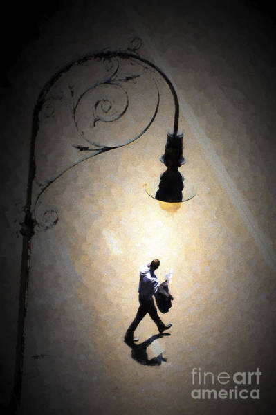 Wall Art - Photograph - Man Under Lamp In The Rocks by Sheila Smart Fine Art Photography