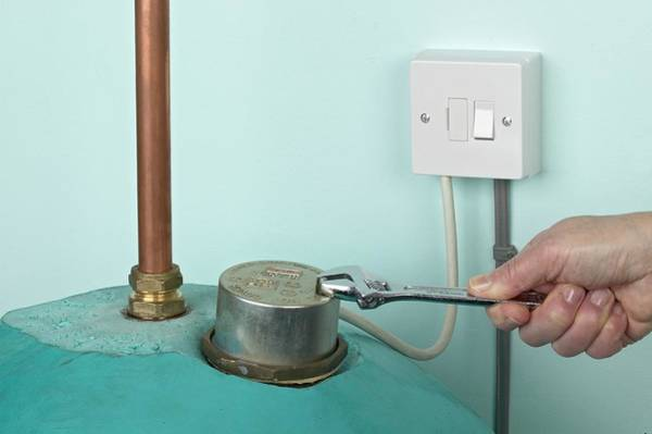 Boiler Photograph - Man Using Adjustable Spanner by Dorling Kindersley/uig