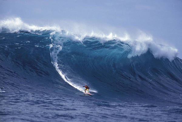 Big Island Photograph - Man Vs Mountain by Sean Davey