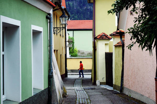 Photograph - Man Walking Through Friesachs Medieval by Martin Moos