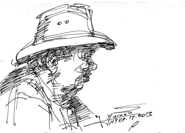 Hat Drawing - Man With A Hat by Ylli Haruni
