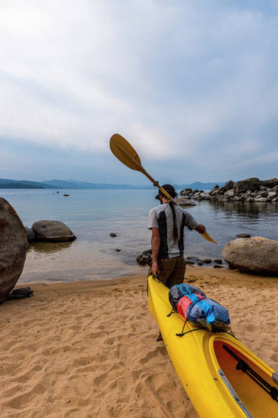 Wall Art - Photograph - Man With A Paddle Over His Shoulder by Rick Saez