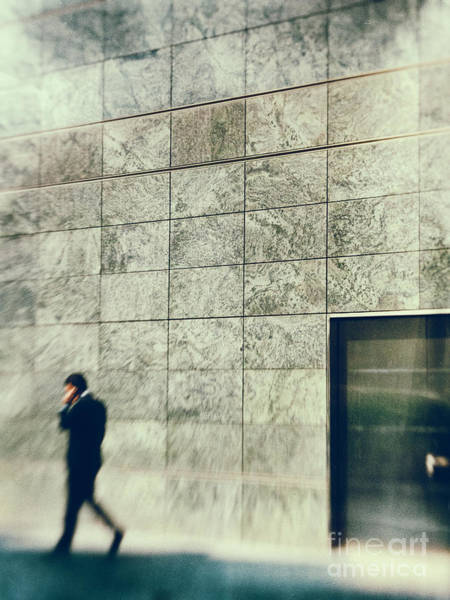 Call Building Photograph - Man With Cell Phone by Silvia Ganora