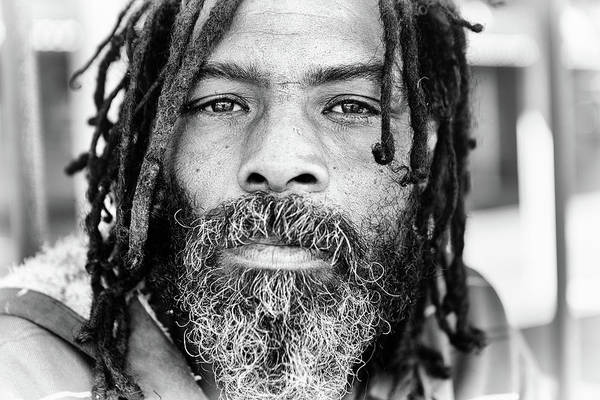 Gray Hair Photograph - Man With Dreadlocks by Rapideye