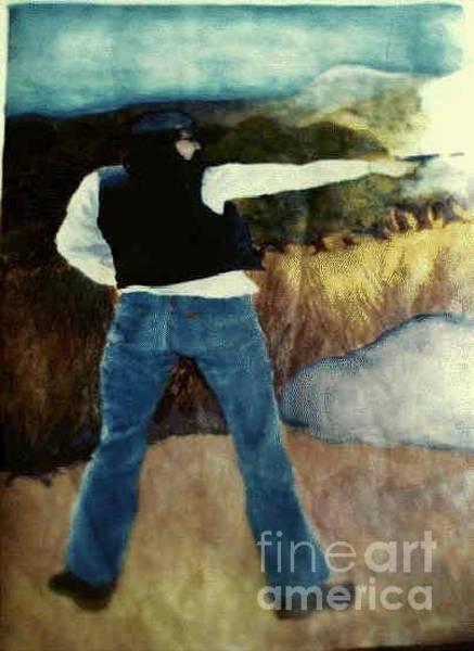 Painting - Man With Gun by Ronda Douglas