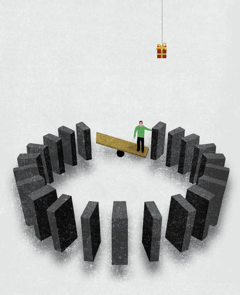 Wall Art - Photograph - Man With Ingenious Solution by Ikon Images