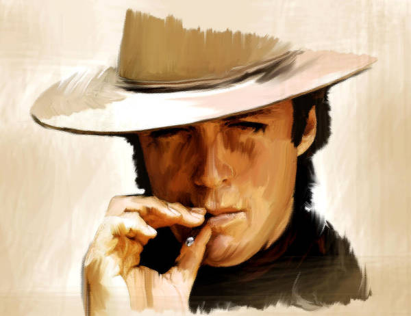 Painting - Man With No Name Clint Eastwwod by Iconic Images Art Gallery David Pucciarelli
